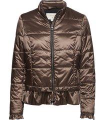 crystal short jacket fodrad jacka brun cream