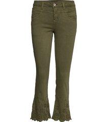 bodilcr jeans - shape fit jeans wijde pijpen groen cream