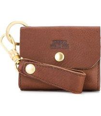 as2ov oiled shrink card case - brown