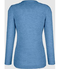 tröja av bandgarn dress in ljusblå