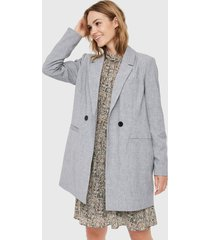 abrigo vero moda gris - calce regular