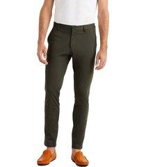 men's rhone commuter slim fit pants, size 40 - green