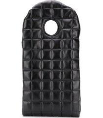 a.w.a.k.e. mode geometric padded clutch bag - black
