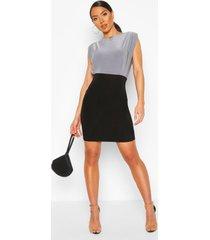 slinky keyhole front mini dress, light grey