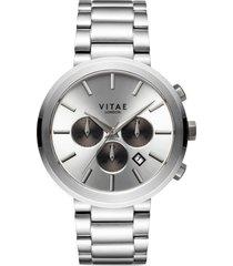 men's vitae london elmington chronograph bracelet watch, 44mm