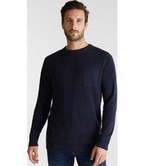 sweater hombre liso azul marino esprit