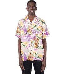 lavender tiger camp summer japanese shirt