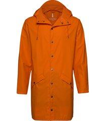 long jacket regenkleding oranje rains