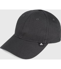 gorra gris adidas performance essentials 3 rayas
