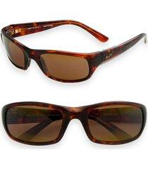 maui jim 'stingray - polarizedplus(r)2' 56mm sunglasses in tortoise at nordstrom