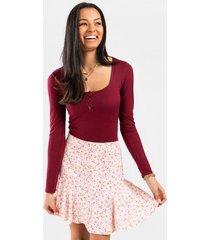 kacey ditsy floral mini skirt - pink