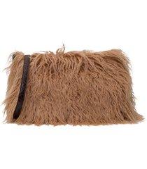 dries van noten cashmere fur crossbody bag