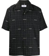 ambush short sleeved wool shirt - black