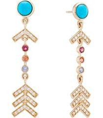 short pave arrow earrings