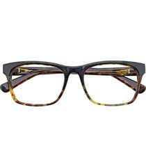 bmw optical b6042  eyeglasses 060 dark green & demi amber