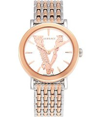 two-tone stainless steel bracelet watch