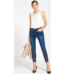 rinascimento jeans skinny con strass