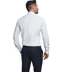 koszula bexley 2577 długi rękaw slim fit niebieski