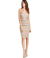 vestido sl rainbow stripe tank dress multicolor guess