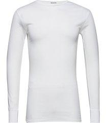 tröja, lång ärm rund halsring t-shirts long-sleeved vit resteröds