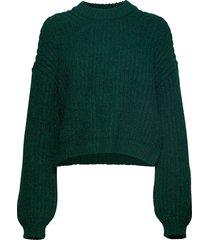 dona crew neck 11213 stickad tröja grön samsøe samsøe