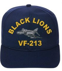 vf-213 black lions  f-4 phantom  direct embroidered cap    new