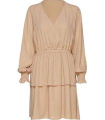 byron wrap dress kort klänning beige designers, remix