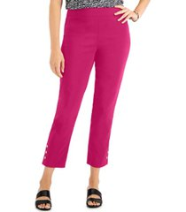 jm collection snap-hem pull-on pants, created for macy's