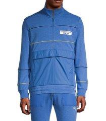 men's puma x porsche legacy partial-zip track jacket - blue - size m