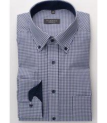 eterna heren overhemd geruit poplin button-down non iron comfort fit