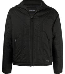 a-cold-wall* front zip padded jacket - black