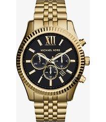 mk orologio lexington oversize tonalità oro - oro (oro) - michael kors