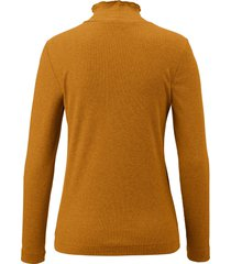 shirt met lange mouwen en opstaand kraagje van efixelle geel
