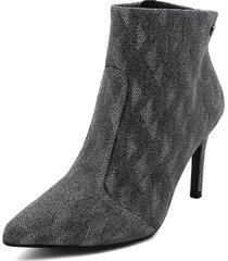botín negro-plata vizzano