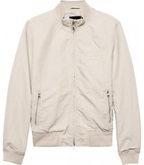 chaqueta cotton linen crudo banana republic