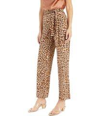 inc cheetah-print wide-leg pants, created for macy's