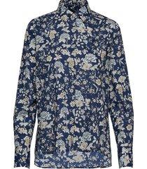 adéle liberty fleur shirt overhemd met lange mouwen blauw morris lady