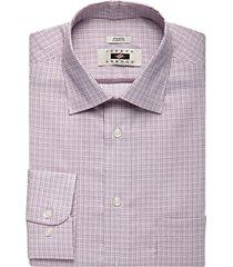 joseph abboud burgundy check classic fit dress shirt