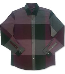 alfani men's woven plaid shirt, created for macy's
