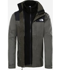 the north face jas men evolve ii triclimate jacket new taupe green/tnf black-l