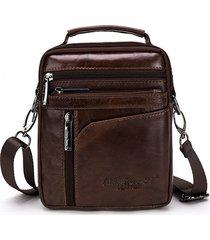 vera pelle mini tracolla borsa multi-funzionale vintage crossbody casual borsa per gli uomini