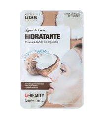 kiss new york água de coco hidratante máscara facial 20ml