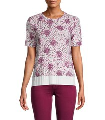boss hugo boss women's edrabi printed top - purple multi - size s