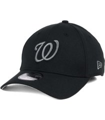 new era washington nationals black and charcoal classic 39thirty cap