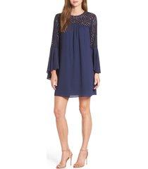 women's lilly pulitzer amenna shift dress, size 14 - blue
