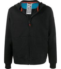 napapijri short zipped hoodie - black