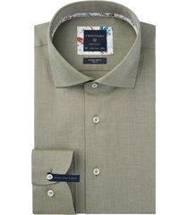 mouwlengte 7 profuomo overhemd strijkvrij groen