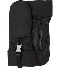 prada clasp fastened mittens - black