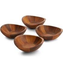 nambe braid salad bowls s/4