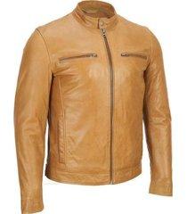 men style tan color bomber leather jacket, men fashion tan color jacket